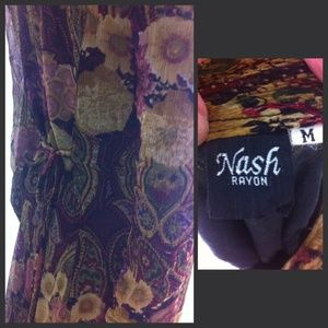 Nash Dresses - Tea length dress in beautiful burgundies
