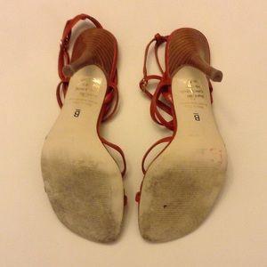 8912f7eca79 Bakers Shoes - Bakers Burnt Orange Strappy Heels Vegan
