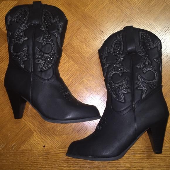 50% off torrid Boots - Brand New Torrid Womens Black Cowboy Boots ...