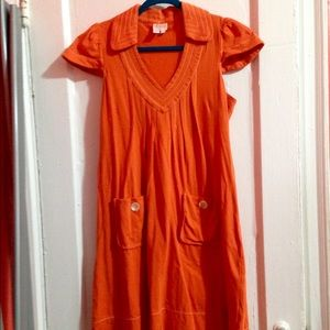 EUC Plenty by Tracy Reese Orange Mod Dress