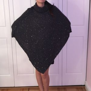 Jackets & Blazers - Gray Sequence Poncho