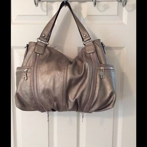 Style & Co Handbags - 🛍 Style & Co. Silver Tote Bag