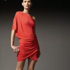 Haute hippie red one shoulder dress