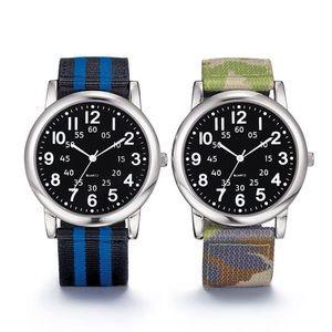 Other - Nylon Strap Watch (Blue/Black Stripe or Camo)