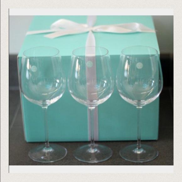 3b4c139e9e89 Tiffany   Co. Red Wine Glasses