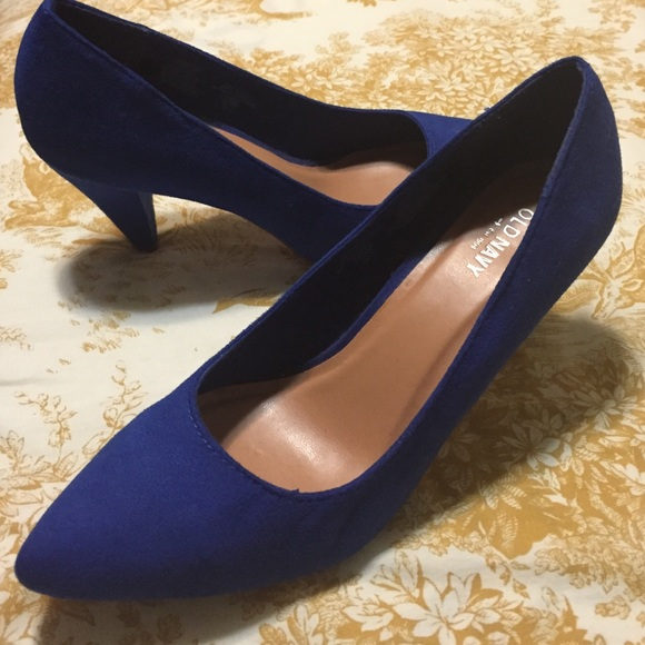 43% off Old Navy Shoes - Blue suede low heels from Sabrina's ...