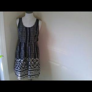 Staring at Stars Black & White Tribal Print Dress