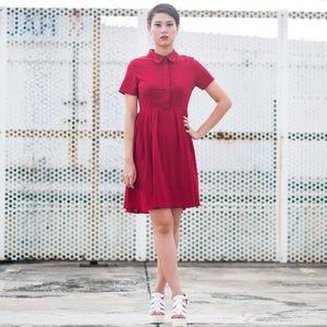 Grunge inspired Boyfriend Red Casual Dress Size L