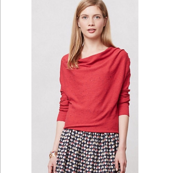 79% off Anthropologie Sweaters - Anthropologie Flickered Cowlneck ...