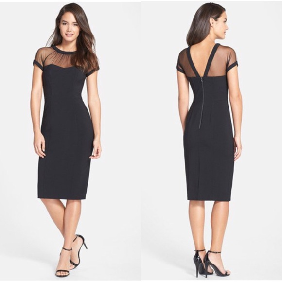 6451e776 Maggy London Dresses & Skirts - Maggy London Illusion Yoke Crepe Sheath  Dress