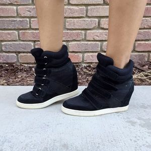Aldo Black Sneaker Wedges