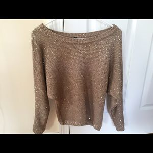 Gold sparkling sweater. Nice for any occasion :)
