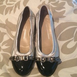 AGL Black and silver flats size 36.5