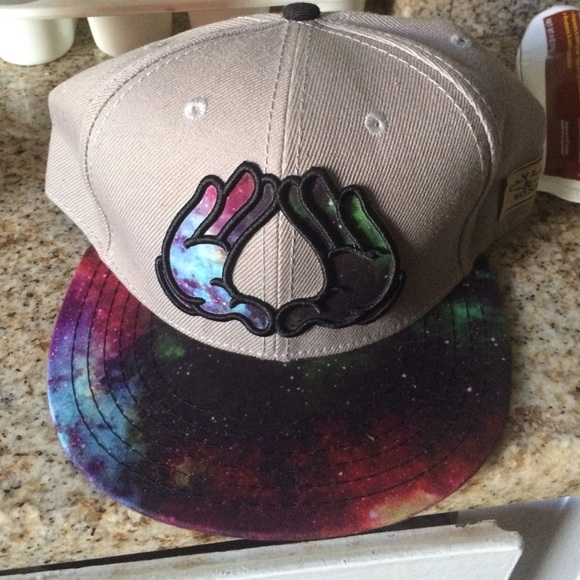 Galactic space Mickey hands obey SnapBack hat 4878438f579