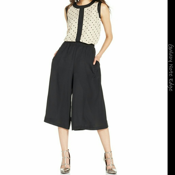 78% off ECI Pants - Cropped Wide-Leg Gaucho Pants from Rania's ...