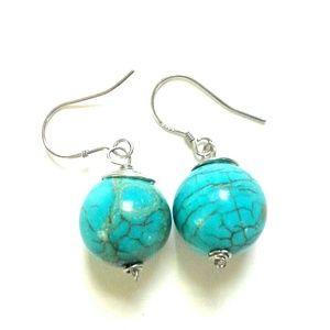 New Handmade earing turquoise stone