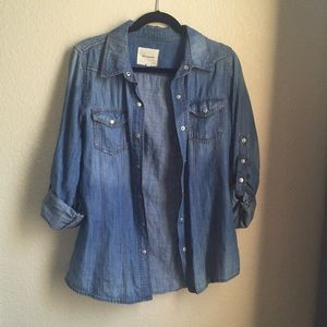 Forever 21 Tops - Denim button up