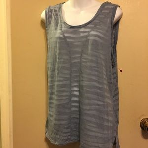 A blue gray converse tank style top