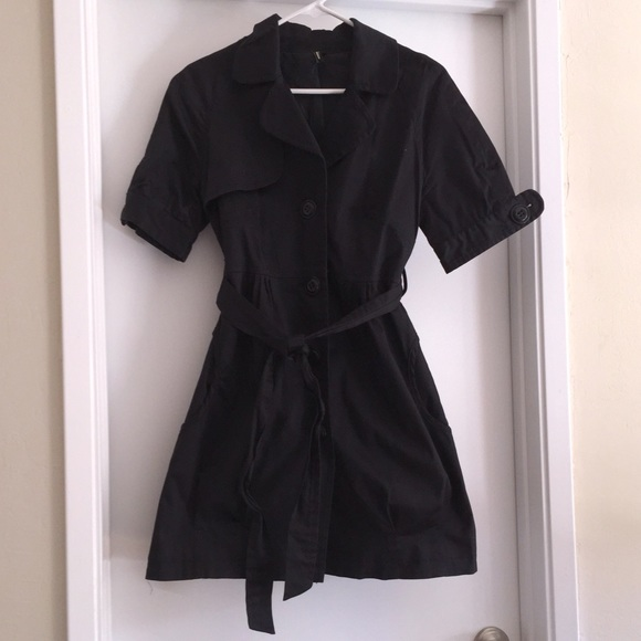 Ambition - Black short sleeve trench coat. from Karen's closet on ...