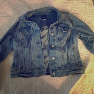 The GAP light wash denim jacket mint condition.