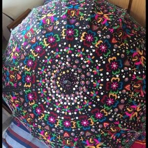 Other - Gorgeous embroidered Vintage ethnic umbrella