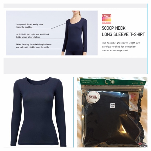 c2feb822 UNIQLO Tops | Heattech Extra Warm Crew Long Sleeve Shirt | Poshmark