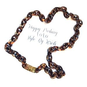 Michael kors jewelry michael kors tortoise shell chain for Real tortoise shell jewelry