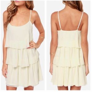 Ark & Co Dresses & Skirts - Cream Tier Ruffle Dress