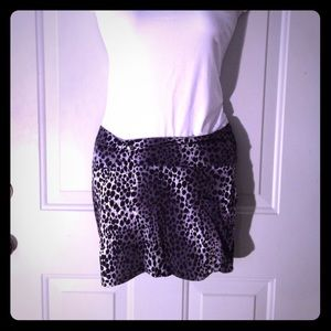 Black & white leopard Bodycon skirt