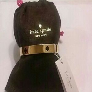 Kate Spade Gold Bangle with Black Spade