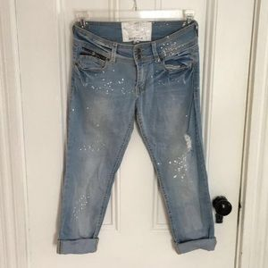 Distressed dollhouse jeans