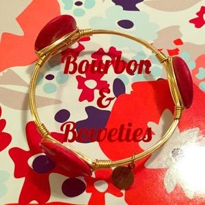 Lilly Pulitzer Jewelry - Bourbon & Boweties Bangle Bracelet Red Gold