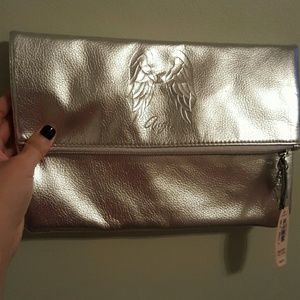 Victoria Secret silver metallic clutch