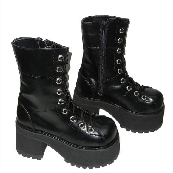 32% off Demonia Shoes - NEW gothic punk Demonia platform combat ...
