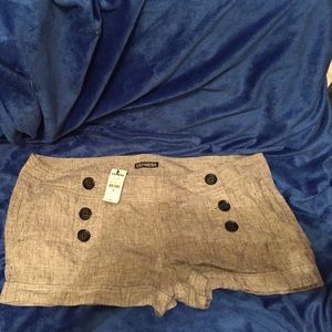 New With Tags- Express Grey shorts size 12