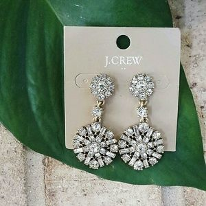 J. Crew Factory Art Deco Crystal Drop Earrings