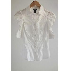 H&M white button-down shirt