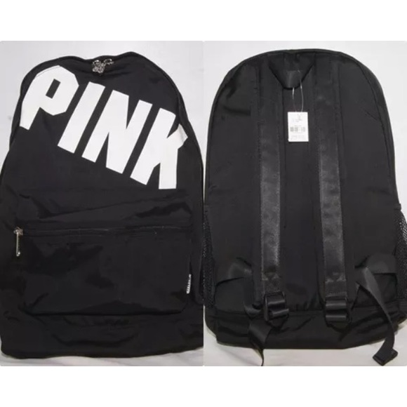 PINK Victoria's Secret - 🎯SOLD🎯 VS PINK Campus White Logo Black ...