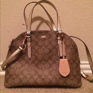 Coach Peyton Signature Cora Domed Satchel NWT