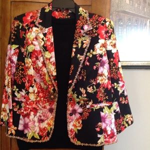 Grace Elements Jackets & Blazers - Floral Jacket by GRACE Elements.........