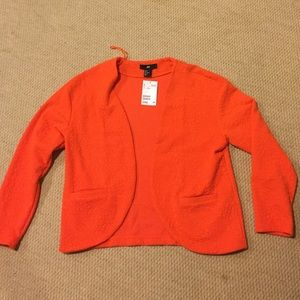 H&m bright orange jacquard blazer