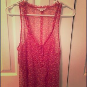 American Eagle Pink floral tank top