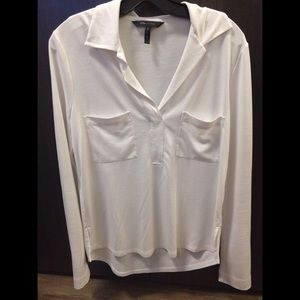 BCBG Max Azria white top