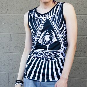 ⬛UNISEX. All-Seeing Eye Occult Mystic Tank Top◼️