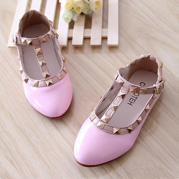 Girl Kids Dress Up Shoes Light Pink