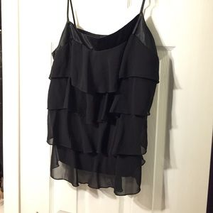 My Michelle Tops - My Michelle XL Juniors ruffly black tanktop
