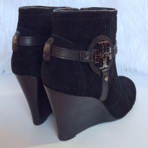 d9a73ec3d6b Tory Burch Shoes - Tory Burch Aaden black suede wedge bootie