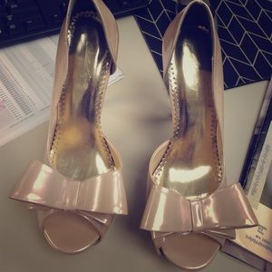 Champagne Bow Pumps