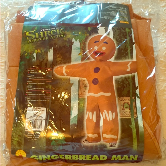 Shrek Gingerbread Man Halloween costume mens M & Other | Shrek Gingerbread Man Halloween Costume Mens M | Poshmark