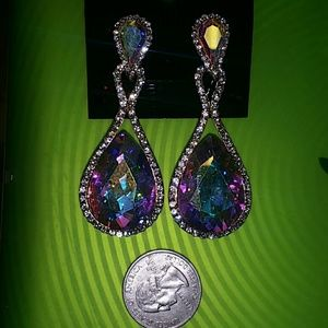 Jewelry - Ab crystal pageant/formal earrings